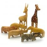 7 Miniature Wood Animals