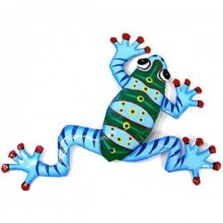 Painted Frog - Metal Drum Art