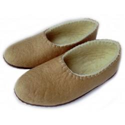 Felt Slippers (sand, closed back - smaller sizes)