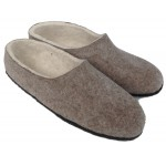 Felt Slippers (grey, closed back - smaller sizes)