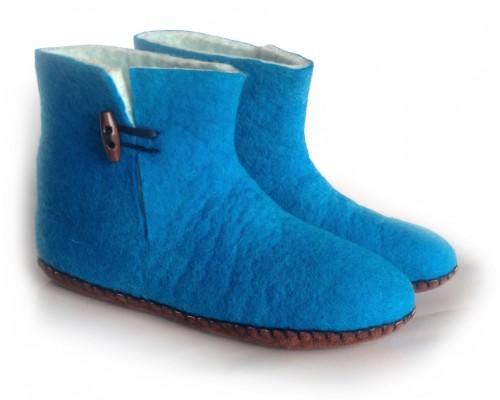 Felt Slippers (bootie - Turquoise)