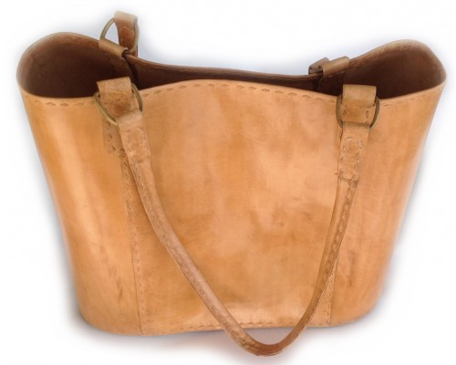 Tote Bag - Natural Leather