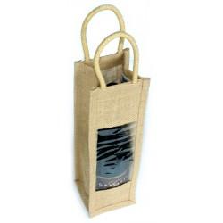 Wine Bottle Bag - Jute