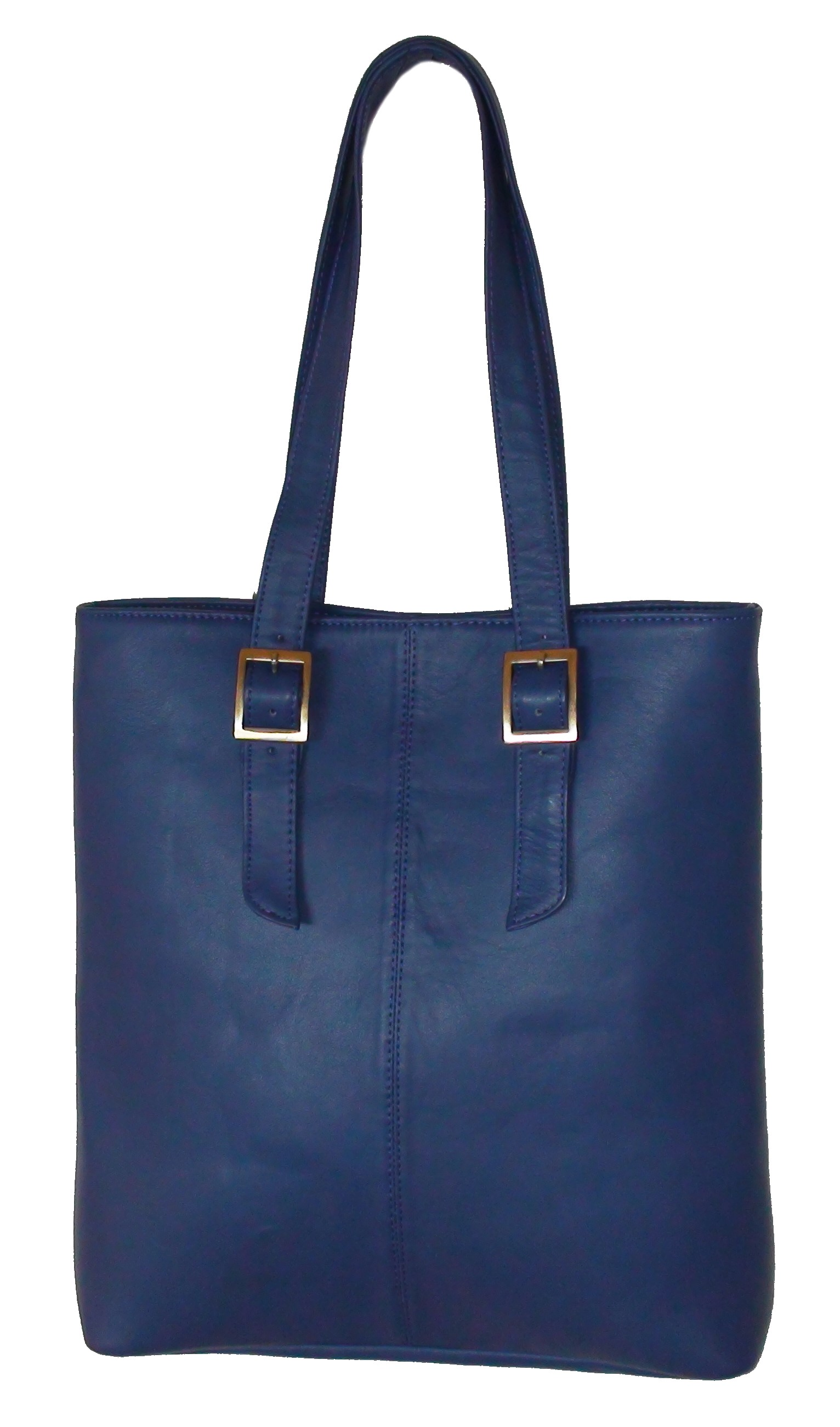 Tote Bag - Finished Leather - Surrealist Blue