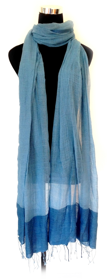 Stole - Cotton - Natural Dye Indigo