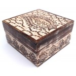 Antique Finish Wood Jewelry Box