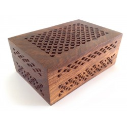 Lattice Cutwork Wood Box