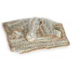 Baby Blanket: Alpaca & Organic Cotton - Hand Knitted