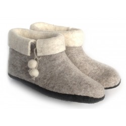 Felt Slippers (bootie - Grey)