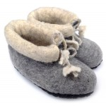 Felt Slippers (toddler) - Grey
