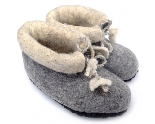 Felt Slippers (toddler) - Grey