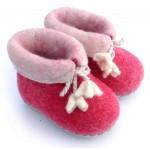 Felt Slippers (toddler) - Pink