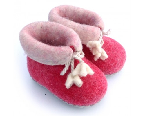 Felt Slippers (toddler) - Pink
