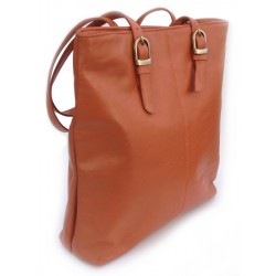 Tote Bag - Finished Leather - Ochre