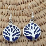 Earrings Silver - Round Silver Tree of Life