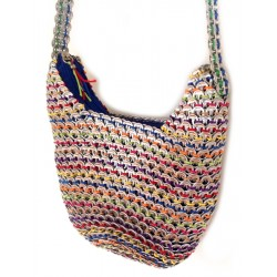 Shoulder Bag - Recycled Pop Top Bag: Hobo