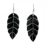 Earrings - Recycled Pan Leaves