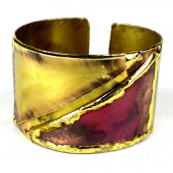 Cuff Brass and Copper - Red