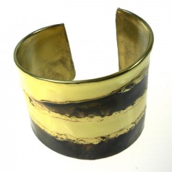Cuff Brass and Copper - Strong Stripes