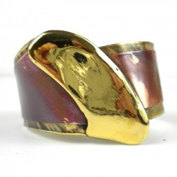 Cuff Brass and Copper - Brush Stroke