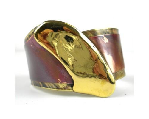 Cuff Brass and Copper - Brush Stroke
