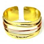 Cuff Brass and Copper - Three Wire