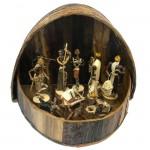 Nativity Set - Banana Fibre