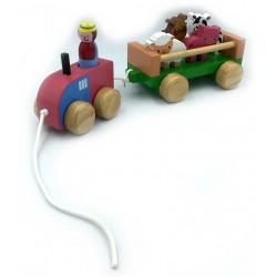 Farm Vehicle Set Push/Pull Along