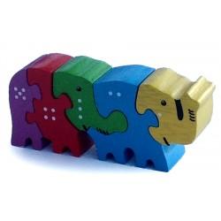 Puzzle - Mini Elephant Line
