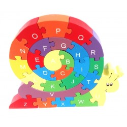 Puzzle - Snail with Alphabet and Numbers