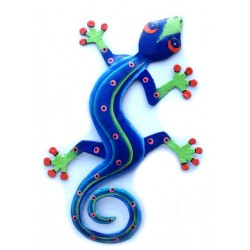 Painted Gecko (44cm) - Metal Drum Art