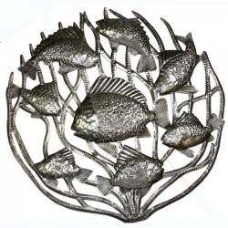 Fish in Coral - Metal Drum Art