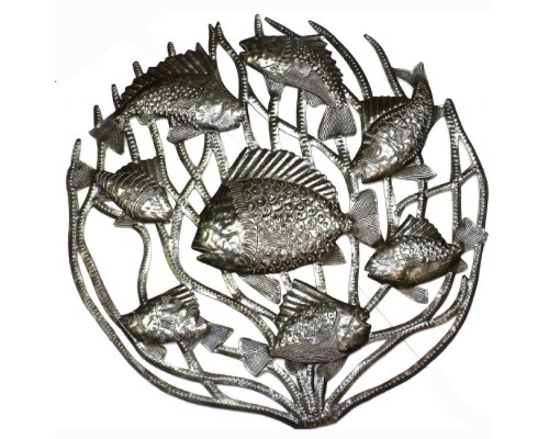 Fish in Coral - Metal Drum Art
