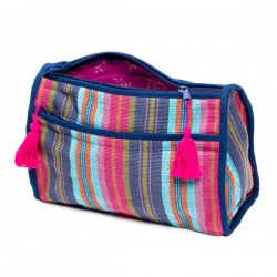 Cosmetic / Bathroom Bag - Berry Boho Cotton
