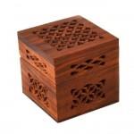 Lattice Cutwork Wood Box - Small
