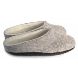 Felt Slippers (grey, low back kids sizes)