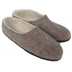 Felt Slippers (grey, closed back - smaller sizes)