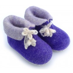 Felt Slippers (toddler) - Purple
