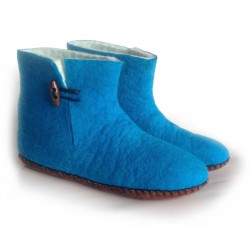 Felt Slippers (bootie - Turquoise)