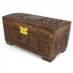 Chest - Carved Mango Wood with Latch