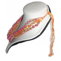 Necklace - Sari Beads - 3 String