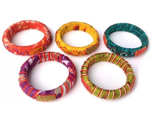 Bangle - Sari with Embroidery