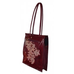 Shoulder Bag - Embossed Leather - Orchid Range