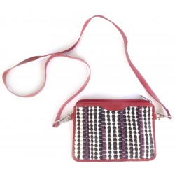 Cross Body Bag - Leather & Woven (Kindle bag)