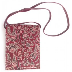 Cross Body Bag - Embossed Leather - Meenakari