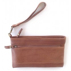 Purse - Finished Leather - Tan