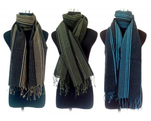 Scarf - Woven Cotton and Wool