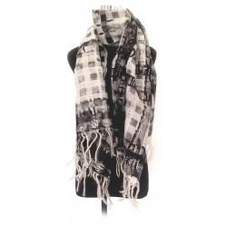 Stole - Silk / Wool Stripe - Hand Woven