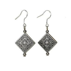 Earrings - Tibetan Silver Symmetry