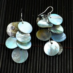 Earrings - Mother of Pearl Cluster